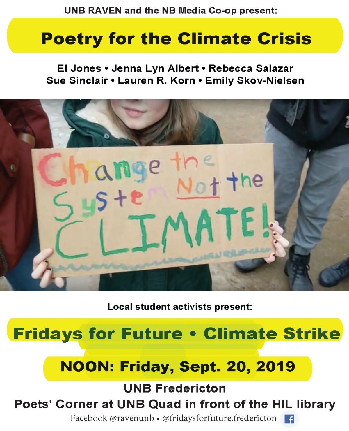 Sept 20: Poetry for the climate crisis