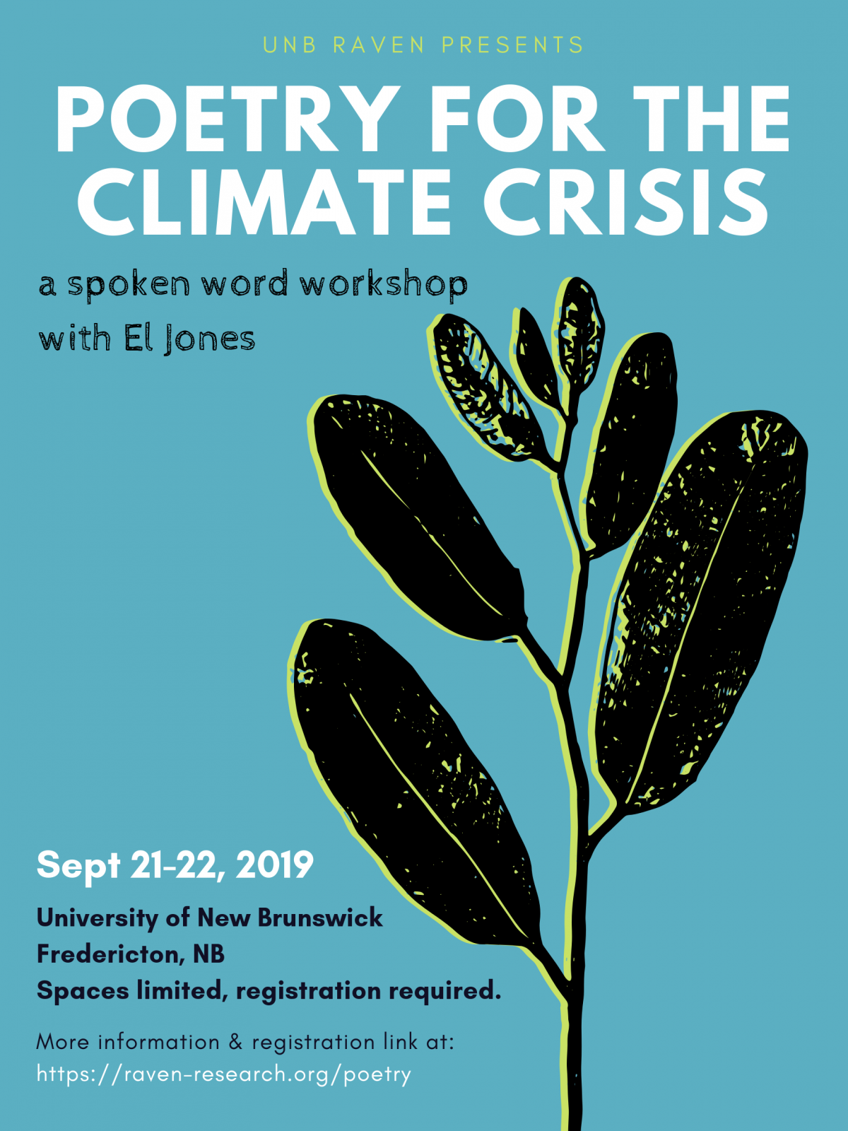 Poetry for the climate crisis: a spoken word workshop with El Jones