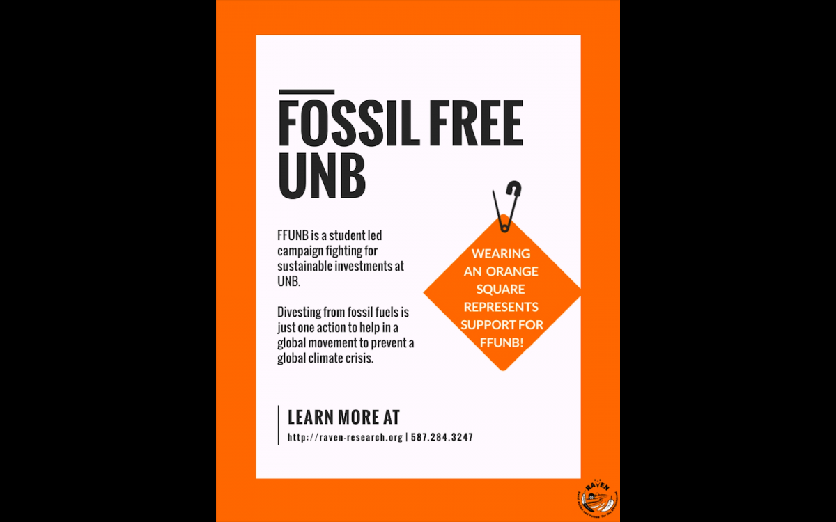 Sept 24: UNB and STU students for fossil fuel divestment