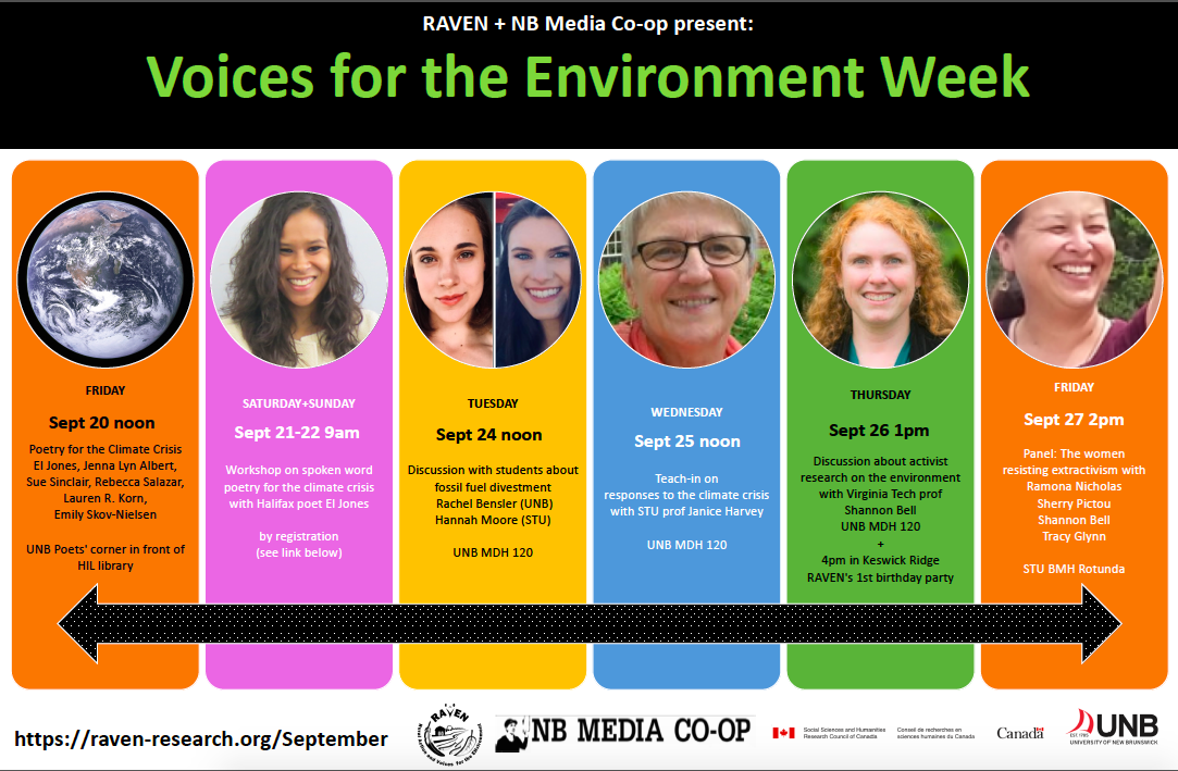 Voices for the Environment week Sept 20-27